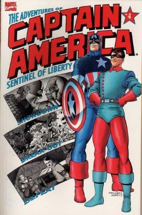 Adventures Of Captain America #4 (1991) Red Skull Marvel comic book